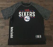 NEW Unique LOS SIXERS Noches 76ers NBA Basketball Black Jersey, Men's XL