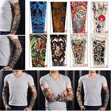 Fashion 6 Pcs Unisex Temporary Fake Slip On Tattoo Arm Sleeves Kit New Hot