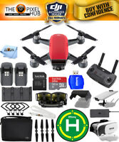 DJI Spark Fly More Combo (Lava Red)!! EXTREME ACCESSORY BUNDLE BRAND NEW!!