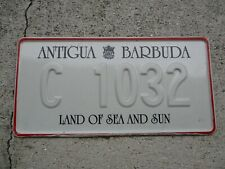 Antigua and Barbuda comm. license plate  #  C 1032
