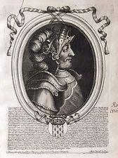 Childéric II Roi de France par Nicolas II de Larmessin C 1686  France