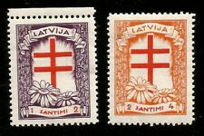 1930 Tuberculosis Cross Swastika Watermark Mint Latvia Stamps! Anti TBC Society