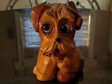 Rare Antique Oswald Scotty Dog Rolling Eyes Clock Works!
