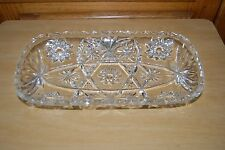 Anchor Hocking Star of David Early American Prescut Lg Hostess Relish Tray Vtg