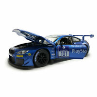 BMW M6 GT3 1:24 Scale Model Car Collectable Diecast Vechicle Gift Boys Blue