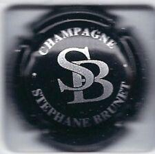 Capsule de champagne BRUNET STEPHANE N°4 NOIR ET ARGENT
