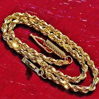 """Michael Anthony 14k yellow gold bracelet 7.0"""" diamond cut solid rope chain 3.5gr"""