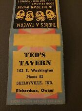 Tex's Tavern Shelbyville A IN Ind Indiana Matchbook Matchcover