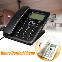 Corded Phone Big Button Landline Caller ID Desktop Home Telephone Desk Hote