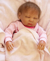 "20"" Realistic Reborn Doll Baby Lifelike Sleeping Vinyl Silicone Newborn Kids Toy"