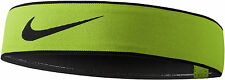 NIKE Pro Swoosh Headband 2.0 One Size Most Head Tie Volt Black Dri-FIT Running