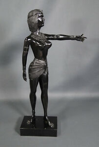 "1970~Contemporary Modernist Abstract Art Nude Amazonian Girl Figure 15""Sculpture"