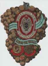 """""""EAU-DE-VIE VIEILLE  JULES ROBIN & C°  COGNAC"""" Etiquette-chromo originale 1855"""