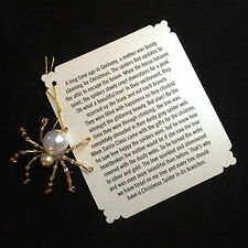 German Christmas Spider Ornaments (Gold)