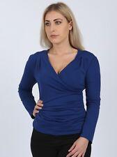 Women's Wrap Front Top BLUE Size 28
