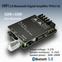 HIFI TPA3116 Digital Power Amplifier Board BT5.0 TPA3116D2 50WX2 Stereo 5V-27V