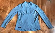 Women's Irideon Riding Wear Equestrian Horse 1/2 Zip Blue Jersey Shirt Size M