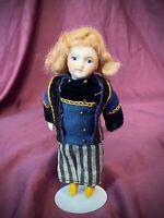 """Antique French Miniature 5.25"""" Bisque Mignonette Doll Paris Unis France SFBJ EUC"""
