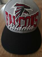 Atlanta Falcons Big Logo NFL Football Snapback Cap New Era 9Fifty Hat Gray Black