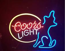 "New Coors Light Wolf Beer Neon Light Sign 17""x14"""