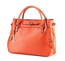 Ralph Lauren Newbury Satchel Handbag Orange Medium