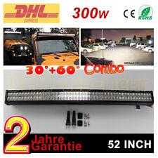 """52"""" 300W Bar LED Balken Fahren Offroad Lichter LKW Pickup Jeep Auto Lichtleisten"""