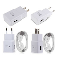 POUR SAMSUNG GALAXY CHARGEUR CHARGE RAPIDE NOTE 4 5 S6 S7 EDGE PRISE + USB CABLE