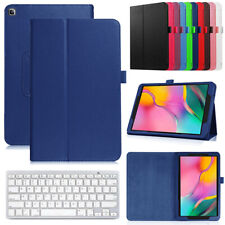 """Leather Case Cover+Keyboard For Samsung Galaxy Tab A A6 7""""/8.0/10.1/10.5 Tablet"""