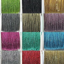 5/100M 1.0x4x3mm Cable Open Link Encryption Aluminum Chain Jewelry Findings DIY
