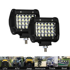 2 PCS LED Light Bar Pod Work Flood Spot Quad Row Combo Offroad Fog Driving 120W