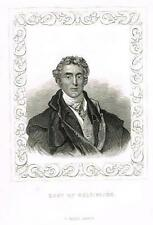 "Portrait of ""DUKE OF WELLINGTON"" by Tallis - Engraving - c1840"