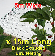 5mtr wide x 15mtr  BLACK Anti Bird Netting Fruit / Plant Tree Bird Netting / Net