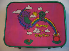 "BARNEY & BABY BOB CHILDREN'S LUGGAGE  (13.5"" X 10.5"" X 4.5"") COLLECTABLE SUITCAS"