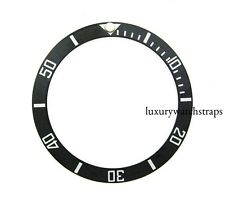 BLACK CERAMIC BEZEL INSERT FOR ROLEX SUBMARINER FITS SEIKO 6309 7002 7S26 UK
