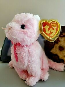 TY Beanie Babies-Fleur Pink Cat DOB 05-23/2004 New w/Tag & Tag Cover💖