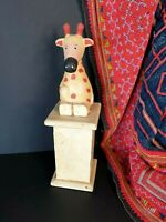 Old Wooden Moo Cow Piggy Bank …beautiful display and accent piece