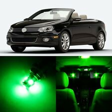 12 x Ultra Green Interior LED Lights Package For 2007 - 2016 Volkswagen VW EOS
