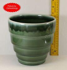 Pfaltzgraff 1940-1950's Green Drip Glaze 6.5 Inch Step Vase MINT! USA!