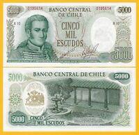 Chile 5000 Escudos p-147b(1) ND (1967-1975) UNC Banknote