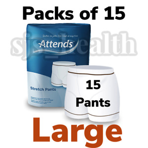 Pack Of 15 Attends Stretch Pull Up Pants Large incontinence Reusable Washable
