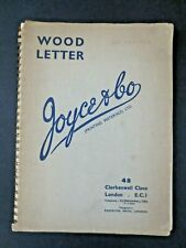 1949 Wood Letter Block Typography Fonts Catalogue Joyce & Co Printing Materials