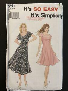 1995 Simplicity Womens Dress Pattern 9441 Size 6 - 16 Uncut