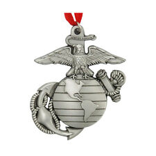 USMC Pewter EGA Sculpted Ornament USMCOR201. Made in USA.