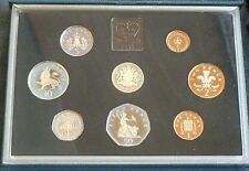 1983 Royal Mint UK Proof 8 Coin Year Set Contains First £1 Coin Cased with COA