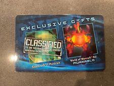 BlizzCon 2011 Murkablo Rare Loot Card Pet WoW World of Warcraft - Unused!