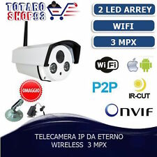 IP CAMERA INFRAROSSI IP CAM PER ESTERNO P2P TELECAMERA WIRELESS WIFI IR