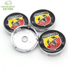 4 Tappi Coprimozzo PER ABARTH FIAT 500 595 695 SS GRANDE PUNTO Cerchi Lega 60mm