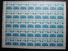1963  ITALIA  15 lire  Giochi del mediterraneo   blocco  da 40  valori MNH**