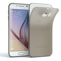Schutz Hülle für Samsung Galaxy S6 Cover Handy Case Matt Hellgrau