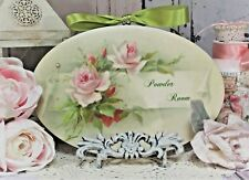 """~ Shabby Chic French Country Cottage style - Wall Decor Sign ~ """"Powder Room"""" ~"""